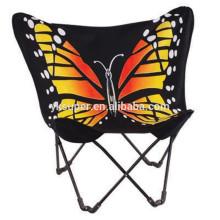 SP-163 cadeira de praia reclinável dobrável, cadeira de lua de borboleta