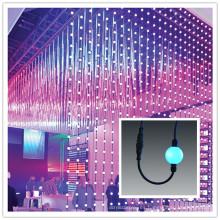 DMX 360 grados colgando cortina de bolas de píxeles
