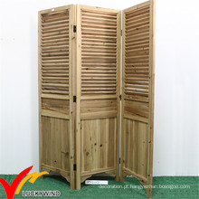 Antique madeira interior dobrável telas Lwpw11A051