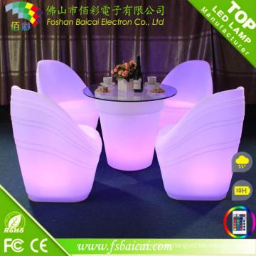 Outdoor wasserdichte LED Bar Möbel wiederaufladbar