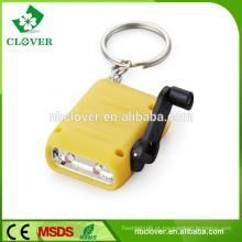 Economia de energia 2 LED manivela mini dínamo tocha com lanterna cor variedade