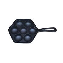 Incluso el panqueque de huevo frito maestro de superficie de 7 orificios, panqueque con molde con herramientas para hornear