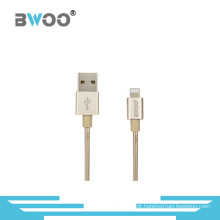 Atacado Colorido Micro / 8pin cabo de dados USB com fio trançado