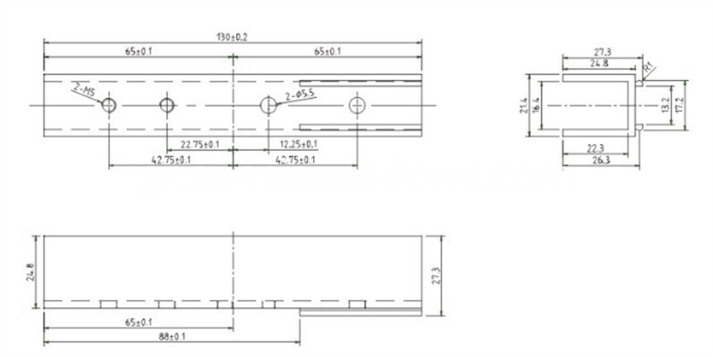 Accessory Bag for Lift and Slide Door System Drawing 1