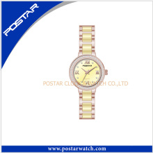 Light Yellow Wrist Watch Women Ceramic Watch