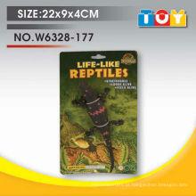 Material de TPR engraçado manchou o pacote de lagarto com cartão de cor