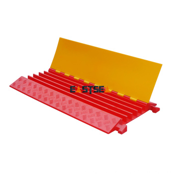 PU Cable Protector de Cable 5 Channel Cable Cover