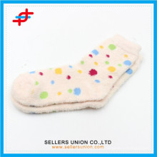 Winter young girl polyamide cozy thick tube happy socks