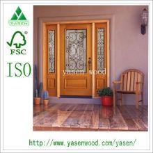 Вход французские деревянные двери (деревянные двери)