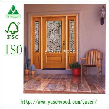 Porte d'entrée française en bois (porte en bois)