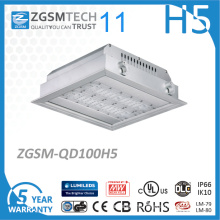 Square 100W LED Parking Garage Canopy Light 120lm/W