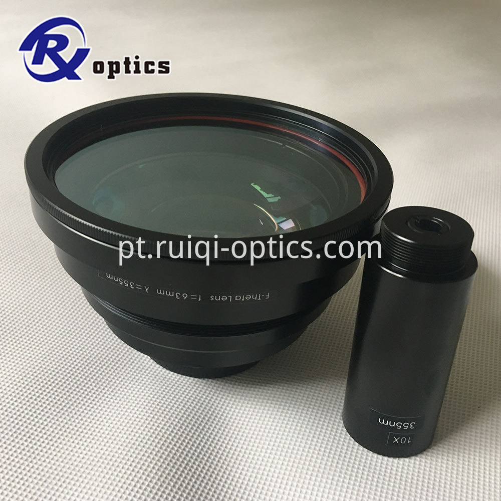 355nm f-theta lens and beam expander lens