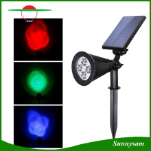 Solar Power Spotlight Outdoor Spike Garden Lawn Light 4 LED Waterproof Security Lamp Landscape Light