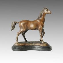 Sculpture en bronze animal Statue en bois arabe Artisanat Statue en laiton Tpal-075