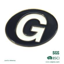 Insignia de metal de alta calidad con logotipo personalizado
