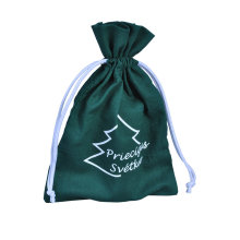 Green Cotton drawstring pouch/packaging bag for jewellery