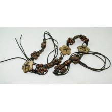 Мода Ручная работа воском шнур плетеные ремни-KL0056