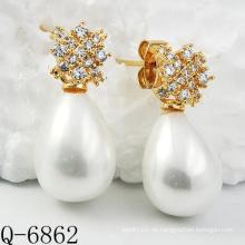 Neueste Styles Perlen Ohrringe 925 Silber (Q-6862)