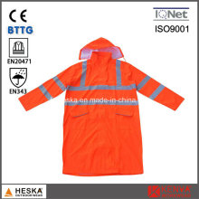 Fashion Cheap Fluorescent OEM Yellow Rain Coat