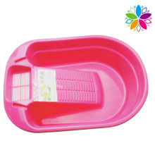 Plastic Washing Basin with Washboard for Home (SLP035)
