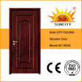 Wood Door with Glass Vision Panel