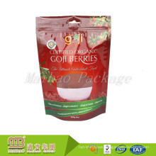 FDA Food Grade Stand Up Packaging Custom Printed Clear Plastic Zipper Pouch