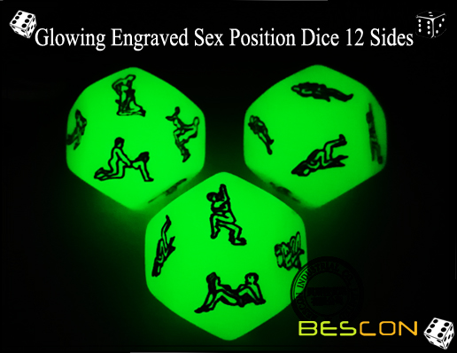 Glowing Engraved Sex Position Dice 12 Sides-3