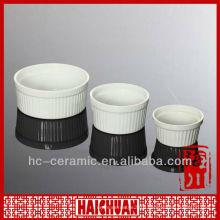 Snowflake ceramic ramekin, ceramic ramekin bowl
