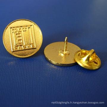 Logo inégalé Plaquette plaqué or, badge en métal (GZHY-LP-015)