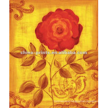 Abstract painting ideas of flower