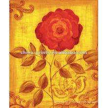 Idéias abstratas da pintura da flor