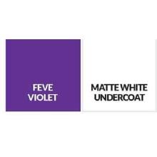 Matte white undercoat /FEVE Violet building Aluminium Sheet
