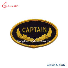 Gold Color Logo Embroidery Lapel Embroidered Badge
