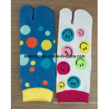 Lady Cotton Two Toe Socks