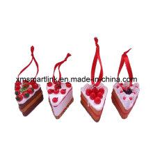 Decoração pendurada de bolos de natal, Lembrança Ornamento pendurado de Natal