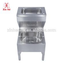Dissipador de aço inoxidável comercial do espanador do dissipador dos líquidos de limpeza com a bacia de lavagem da mão