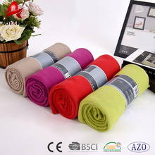 made in China solid colour cheap 100 polyester polar fleece blanket
