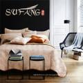 Folha de cama acolchoada e 2pcs fronhas capa de cama elegante e clássica
