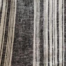 Льняная ткань, окрашенная вискозной пряжей