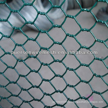Malla de alambre de pollo de PVC / malla de alambre hexagonal para el cultivo