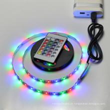 Controle remoto 5 V 50 cm 1 m 2 m IP20 IP65 RGB 3528 60 LEDs / m SMD 5050 30 LEDs / m TV fundo USB CONDUZIU a luz de tira
