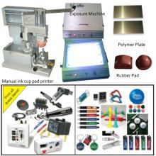 Máquina de impresión manual del cojín de las tapas de los lentes para el solo color