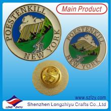Кнопки Пользовательские Нью-Йорк Металлический Значок Pin