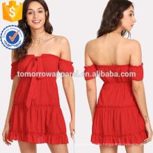 Selbst binden die Schulter Kleid Herstellung Großhandel Mode Frauen Bekleidung (TA3156D)