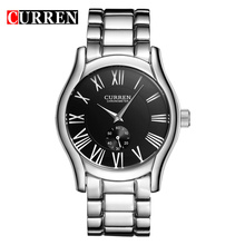 Curren Brand Stainless Steel Men Business Quartz Relógios