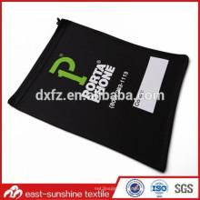 Pantalla de seda logo de impresión diseñador microfibra bolsa de teléfono de bordado
