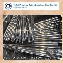 GB 20 # / SAE 1020 / JIS S20C Tubes sans soudure en acier à faible teneur en carbone laminés à froid