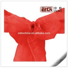 100% Polyester Bunte kundengebundene Größe vorhandene preiswerte Organza Stuhl-Schärpe
