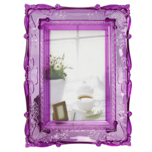 Purple Clear Plastic Photo Frame In 5x7inch