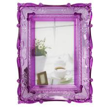 Фиолетовый прозрачные пластиковые фото кадр в 5x7inch